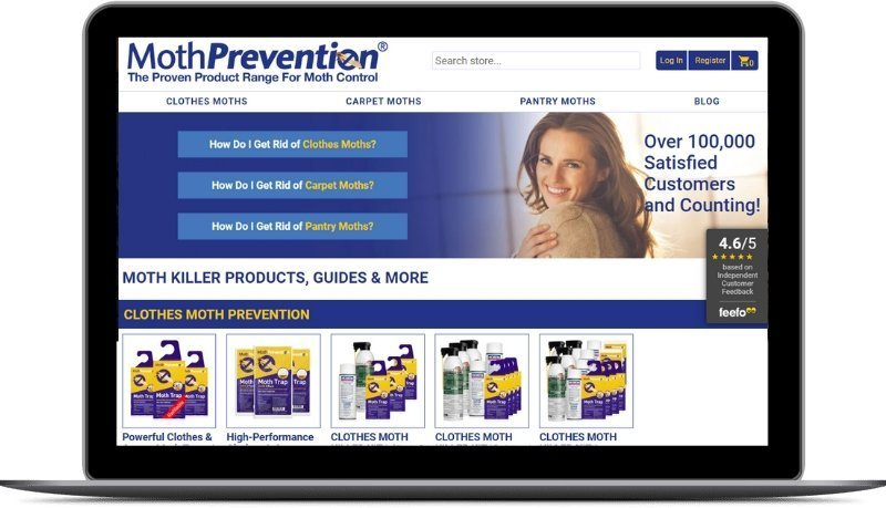 Moth Prevention Moth Control Products Ecommerce SEO Project With Future State Media