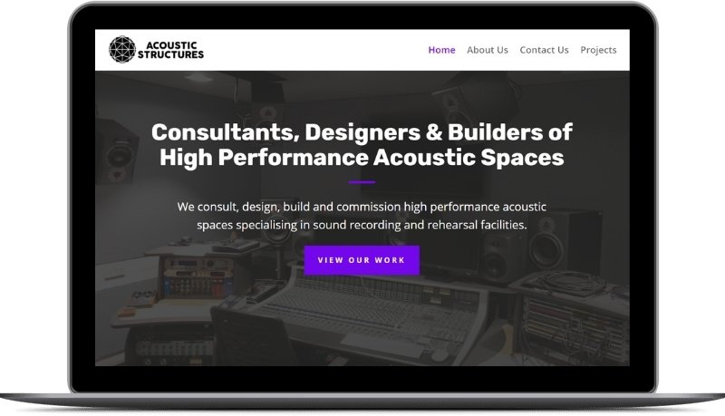 Acoustic Structures Ltd Future State Media Website Design Project